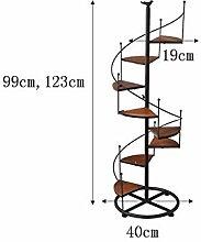 ASL Eisen-Blumen-Racks Massivholz Mehrere Ebenen Boden Blumentopf Regal 99 * 40CM, 123 * 40CM Balkon Wohnzimmer Indoor Blumen Regal Regal neu ( größe : 123*40CM )