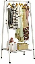 ASL Garderobe Kleiderbügel Boden Kleiderbügel einfache moderne Regal Metall Schlafzimmer Regal kreativ Neu ( Farbe : Weiß , größe : 63*38*126CM )
