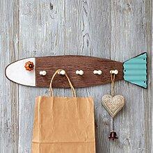 ASL Hirten-kreativer Fisch-dekorativer Haken-Hauptschlüssel-Speicher-Wand-hängender Kleiderhaken-Wand-Dekoration neu ( Farbe : A )