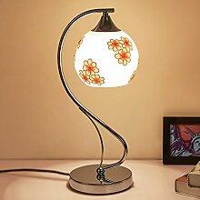 ASL LED Tischleuchte am Bett Schlafzimmer Wohnzimmer Glaslampe kreative Dekoration-Büro-Hochzeit Energiesparlampe Dimming Neu ( Farbe : C )