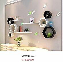 ASL Mode bunte Sechskant-Regal-Kombination Schlafzimmer Wanddekoration Wand Regal, kreative Home Wand Wohnzimmer TV Wand Wand hängende Dekorationen neu ( Farbe : #2 )