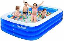 ASL Oversized Inflated Swimming Pool Großes Haus Spiel Pool Sand Pool Familie Fold Outdoor Kind Dicker Spiel Pool Erwachsene Ball Pool Bäder Bad Zylinder Bad Töpfe Neu ( größe : 305*185*65CM )