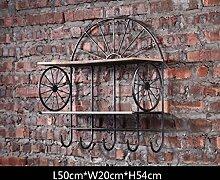 ASL Regal, Kreativ Home Wand Oberfläche Eisen Wand Retro Wandschmuck Industrielle Wind Lagerung Rack L50cm * W20cm * H54cm Qualität ( Farbe : A )