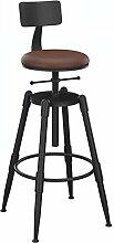 ASL Retro Eisen Bar Stuhl, Home Solid Barhocker Barhocker Restaurant Bar High Chair Retro Barhocker Höhe 68-90cm kann auf und ab heben Neu ( größe : D )
