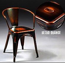 ASL Retro Eisen-Esszimmer-Stuhl, kreativer Loft mehrfache Farben Eisen bilden alten Stuhl Metallkaffee Hauptausstellungs-Dekoration-Eisen-Stab-Stuhl-Aufenthaltsraum-Stuhl 45 * 45 * 73cm Neu ( Farbe : H )