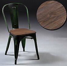 ASL Retro Eisen Sessel, Creative Loft Esszimmer Stuhl Machen Alte Stühle Metall Cafe Bar Metall Stuhl Freizeit Produktion Entertainment Clubs Board Chair 44 * 47 * 85cm Neu ( Farbe : H )