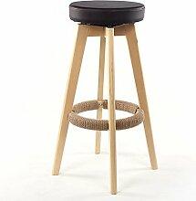 ASL Retro Massivholz Bar Hocker Bar Stuhl, Circular Restaurant Hocker Kassierer Hocker Stuhl Esszimmer Stuhl Kaffee Stuhl Hohe Hocker Hochstuhl Haushalt Esszimmer Hocker 65-74cm Neu ( Farbe : #3 , größe : 74cm )
