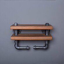 ASL Retro Massivholz Wasserrohre Zweite Etage Industrie Pipeline Regal Regal 40 * 15CM Qualität ( Farbe : #1 )