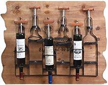 ASL Retro Wein-Zahnstange, Loft-Eisen-Wand-hängende Regal-Speicher-Gaststätte-Weinkellerei-Aufhebung-fester hölzerner Rahmen-Wein-Kabinett-Wand-Dekoration-Wein-Zahnstangen 88 * 16 * 59cm neu ( größe : 88*16*59CM )