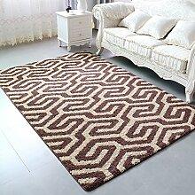 ASL Rutschfeste Wohnzimmer Teppich, Kaffeematten Study Schlafzimmer Nachttischdecke Fußauflage Türmatten Sofa Teppich Dicker Geometrie Übergroß Neu (Farbe : #3, größe : 100*150CM)