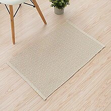 ASL Schlafzimmer Bodenmatte Türmatte Tür Fußmatte Haushalt Küche rutschfeste Badematte Wasseraufnahme sos ( Farbe : #1 , größe : 45*70CM )