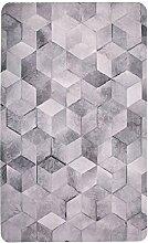 ASL Teppich, grauer dünner Teppich-Rechteck-Wohnzimmer-Kaffee-Tabellen-Auflagen-Hauptdekoration Teppich-Fußmatte-Badezimmer-rutschfester Teppich-Schlafzimmer-Nachttisch-Teppich-Tabellen-Stuhl-Matte Fußmatte-Büro-Balkon-Teppich 150-180cm Neu ( Farbe : #4 , größe : 100*150CM )