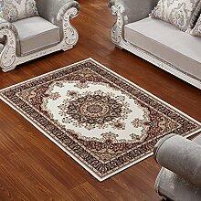 ASL Teppich Wohnzimmer Couchtisch Schlafzimmer Bettvorleger Blending American Garden Home Klassisch-Shop Neu (Farbe : D, größe : 80*160cm)