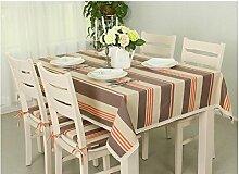 ASL Tischdecke Moderne einfache Art und Weise gestreiftes Tuch-Tapete-Spitze-Seite der rechteckigen Tischdecke wählen ( Farbe : B , größe : 130*180cm )