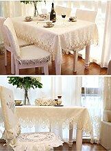 ASL Tischdecke runde Tischdecke Stoff Tischdecke Spitze Spitze ovale Tischdecke runde Tee Tischdecke wählen (Farbe : Light Beige, größe : 130*130cm)