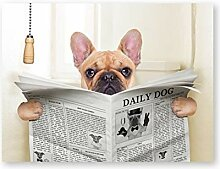 ASLKUYT Französische Bulldogge Hund sitzt auf