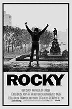 ASLKUYT Rocky Movie Score SEIDENPOSTER Dekorative