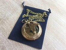 Asmara Sonnenuhr Kompass mit 76,2 cm Langer Kette