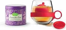 Asobu Tea Ball Mug with Amaretto Love Tea,