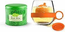 Asobu Tea Ball Mug with Kiwi Kiss Tea,