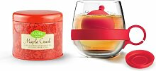 Asobu Tea Ball Mug with Maple Crush Tea,