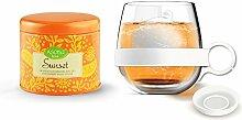 Asobu Tea Ball Mug with Sunset Tea, 16.75-Ounce,