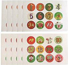 Asosmos 10 Blätter / Set Weihnachten Sticker