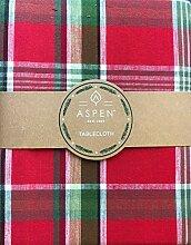 Aspen Home Tischdecke Weihnachten Kariert