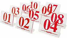 aspire 10PCS Kunststoff Tisch Zahlen für