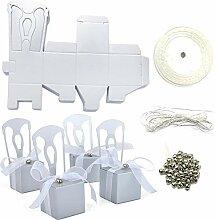 aspire 50 Stück Hochzeits-Geschenkboxen