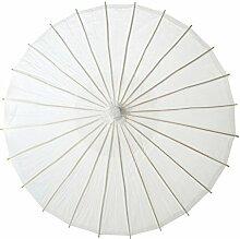 aspire Weiß Hochzeit Papier Sonnenschirm