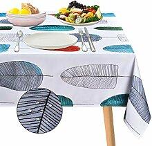 ASPMIZ Blatt-Tischdecke, bunte Blätter,
