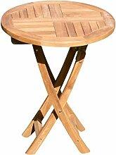ASS echt Teak Holz Klapptisch Holztisch rund 60cm