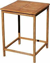 ASS Teak Bartisch Bistrotisch Stehtisch 80x80cm Holztisch Gartentisch Garten Tisch Holz Modell: JAV-BIMA-80x80 von
