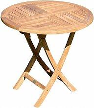 ASS Teak runder Klapptisch Gartentisch Holztisch