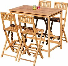 ASS XXL BAR Set Teak Bartisch Bistrotisch