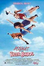 Assault Of Killer Bimbos Poster 01 Metal Sign A4 12x8 Aluminium