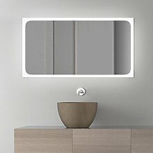 Assia Design - LED BADSPIEGEL mit Beleuchtung - Made in Germany - (Breite) 140 cm x (Höhe) 50 cm
