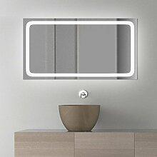 Assia Design - LED BADSPIEGEL mit Beleuchtung - Made in Germany - (Breite) 200 cm x (Höhe) 50 cm