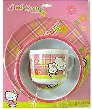 Assiette Bol et Mug Hello Kitty en plastique