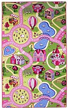Associated Weavers 0309018 Sweet Town Spieldecke 100 X 165 Rug, Stoff, rosa, 9 x 9.4 x 101.80 cm