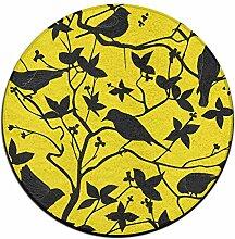 Ast Kreis Shaggy Teppich Runde Form für Schlafzimmer Wohnzimmer Teppich/Fußmatte/Anti-Rutsch
