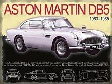 Aston Martin DB5 in silber 1960er jahre ikonisch