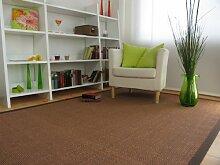 Astra Sisal Teppich Manaus mit Bordüre Farbe braun coffee 100% Sisal - 18 Größen, Größe: 80x160 cm
