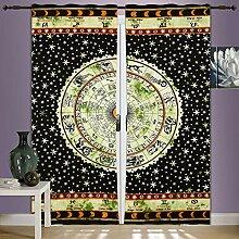 Astrologie Mandala Tapisserie großes Wand