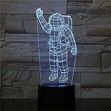 Astronaut schreibtischlampe nacht skulptur