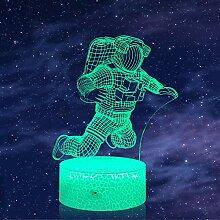 Astronauten 3D-Nachtlicht, Cartoon Raumfahrer