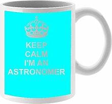Astronom Keramik Tasse Design auf weiß Keramik