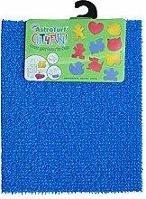 AstroTurf 10187338FG Cut4Fun Do it yourself dekorative Matte, Herz, Hund, Katze, Schmetterling, Mädchen, Junge, außerhalb/ innerhalb, Wand/ Boden Polyethylen, blau, 60 x 50 x 2 cm