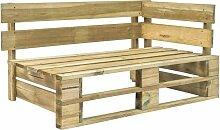Asupermall - Garten-Paletten-Eckbank Holz